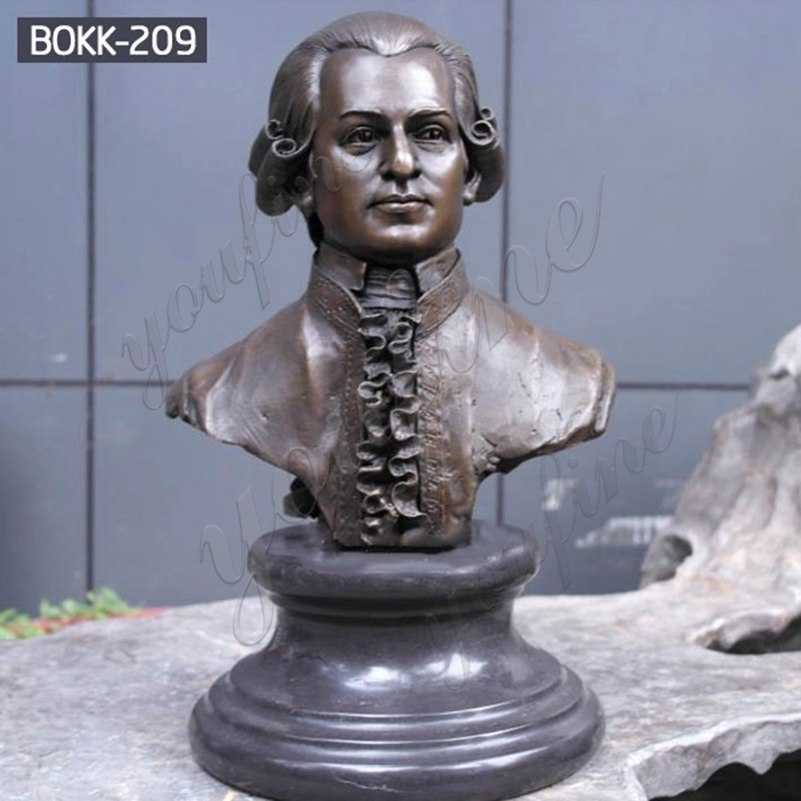 Famous Custom Bronze Mozart Bust Statue from Factory Supply BOKK-209