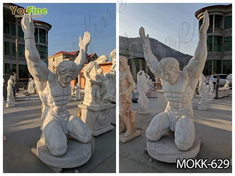 Famous Life Size Marble Atlas Man Statue detail