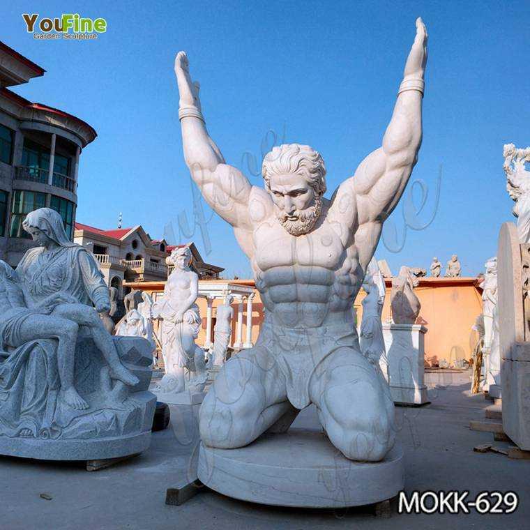 Famous Life Size Marble Atlas Man Statue Suppliers MOKK-629