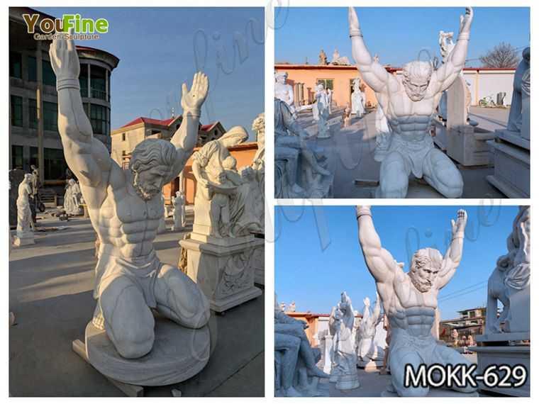 Famous Marble Atlas Man Statue