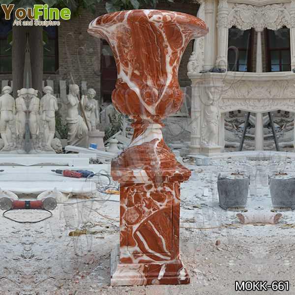 Large Size Garden Marble Flower Pots Outdoor Decoration planter for Sale MOKK-661