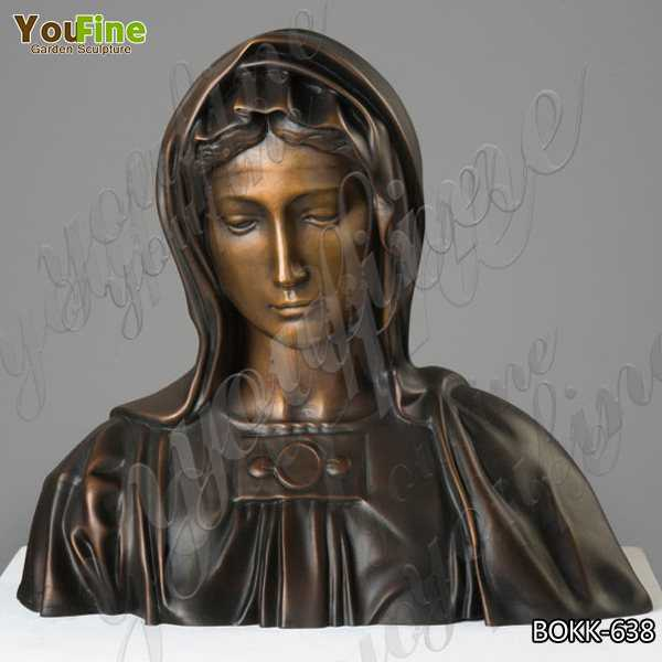 Hand Carved Catholic Antique Bronze Virgin Mary Statue for Garden Decor for Sale BOKK-638