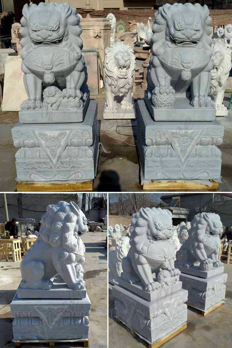 Hand Carved Stone Lion Statue for Front Porch Suppliers