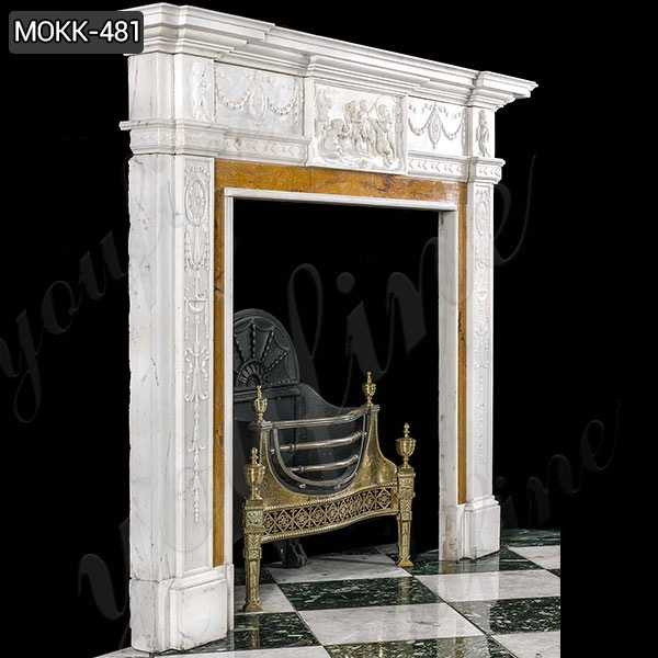 Hand Carved White Marble Georgian Fireplace Mantel Suppliers