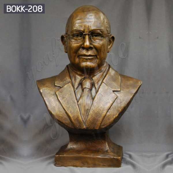 High Quality Custom Bronze Bust Man Sculpture for Sale