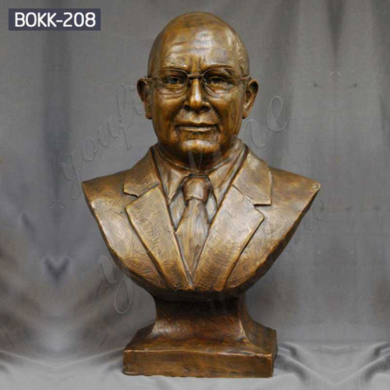 High Quality Custom Bronze Bust Man Sculpture for Sale BOKK-208