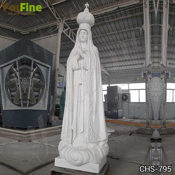 High Quality Our Lady of Fatima with Crown Marble Statue