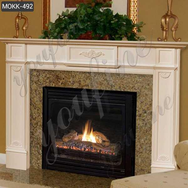 Hot Sale WhiteMarble Fireplace Minimalist Design Garden Decoration MOKK-492