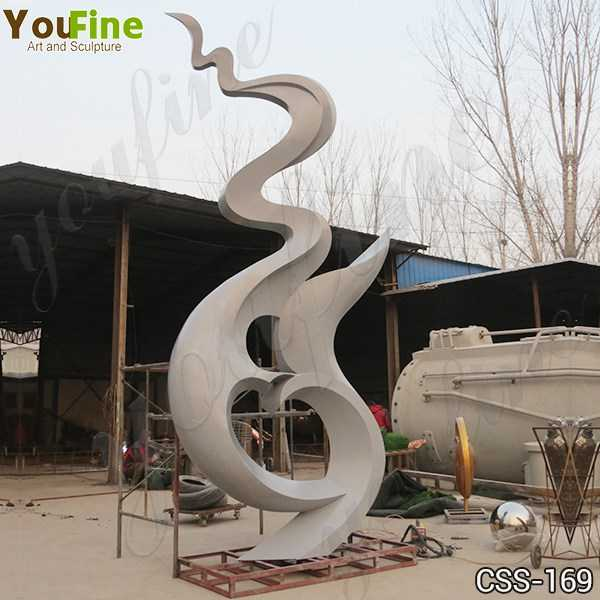 Large Abstract Stainless Steel Outdoor Sculpture Manufacturer