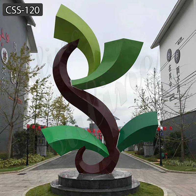 Large Outdoor Abstract Stainless Steel Garden Sculpture for Sale CSS-120