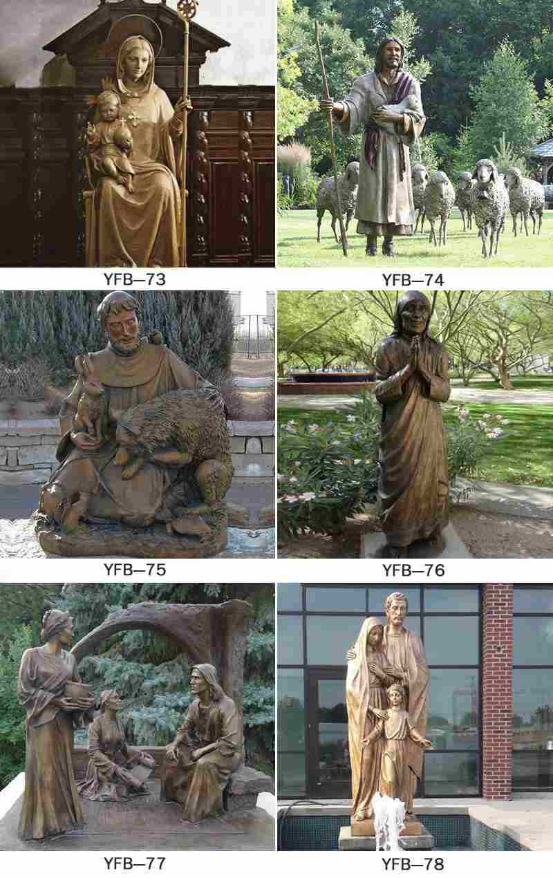 Life Size Bronze Holy Family Sculpture