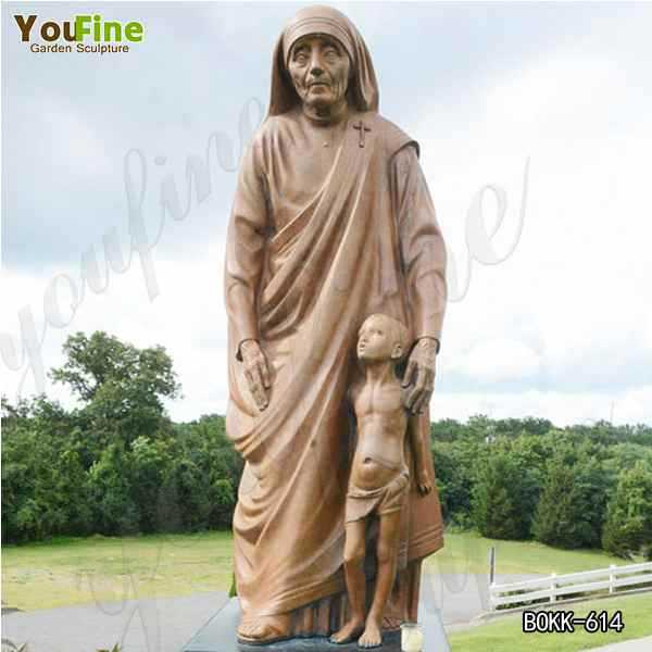 Life Size Catholic Bronze Mother Teresa Statue for Church Decoration Online BOKK-614