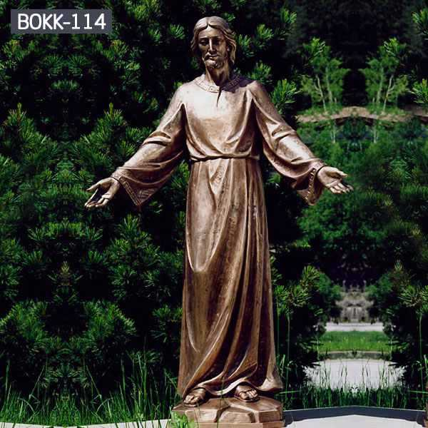 Life Size High-quality Antique Bronze Church Statue of Jesus from Factory Supply BOKK-114