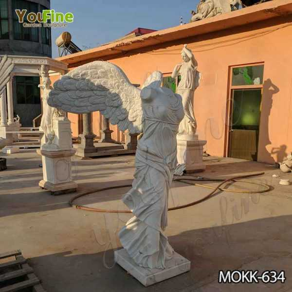 Life Size Marble Winged Victory of Samothrace Statue