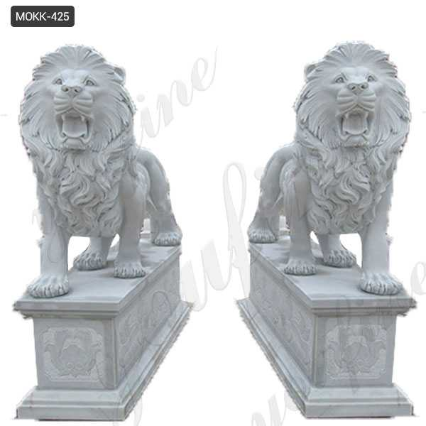 Life Size Outdoor Marble Walking Lion Statues for Sale