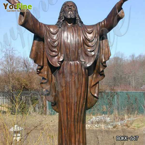 Life Size Religious Antique Bronze Christ Jesus Statues in Prayer for Sale BOKK-647