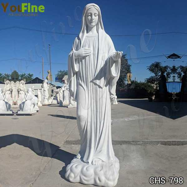 Life Size Virgin Mary Marble Statue for Garden Decor