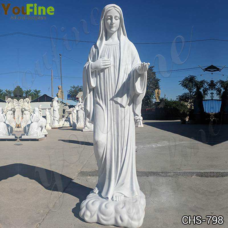 Factory Supply Life Size Virgin Mary Marble Statue for Garden Decor CHS-798