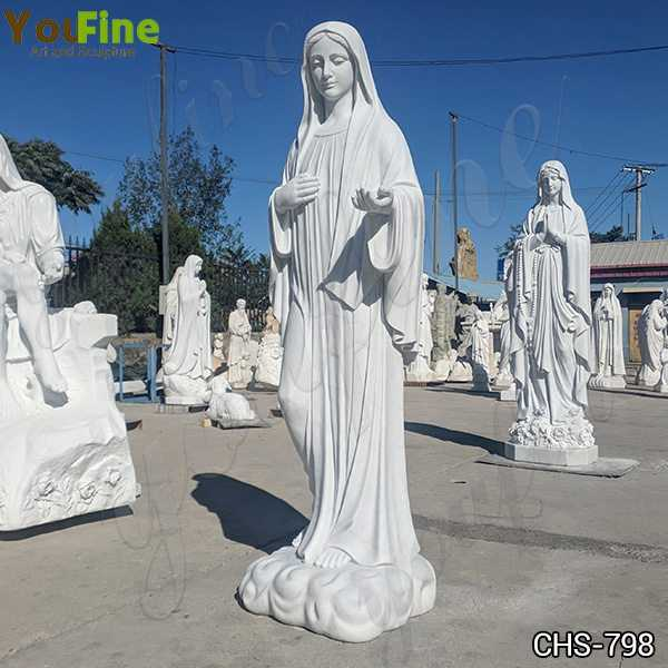 Life Size Virgin Mary Marble Statues for Garden Decor
