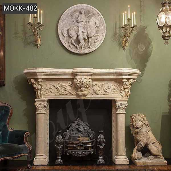Luxurious Georgian Marble Fireplace Surround Design for Sale MOKK-482