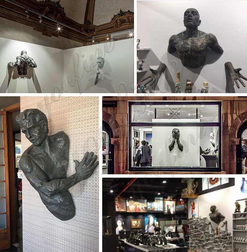 Modern Metal Wall Matteo Pugliese Bronze Sculpture
