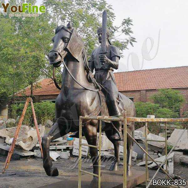 Outdoor Bronze Knight on Horse Statue for Sale