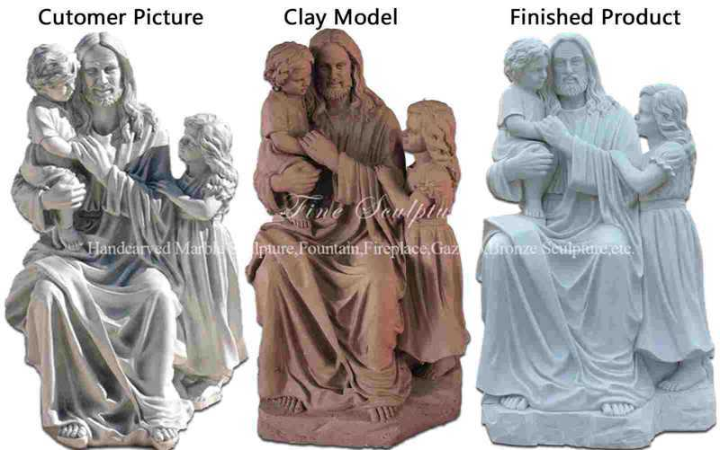 Outdoor Bronze Quiet Moment Holy Family Statue