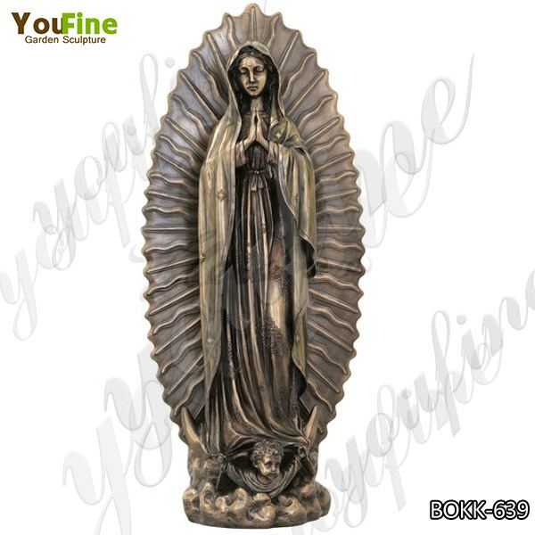 Outdoor Casting Bronze Our Lady of Guadalupe Sculpture for Church Manufacturer BOKK-639