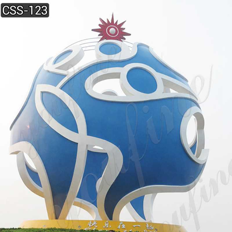 Outdoor Large Modern Stainless Steel Urban Sculpture Suppliers CSS-123