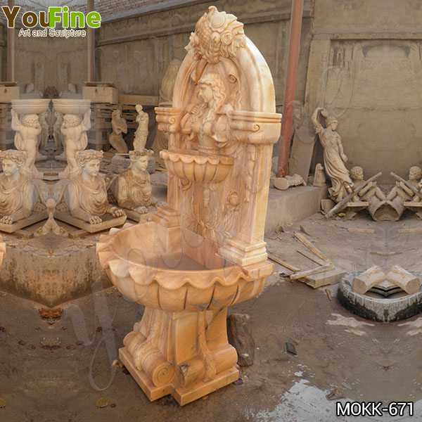 Outdoor Red Marble Water Wall Fountain Factory Supply