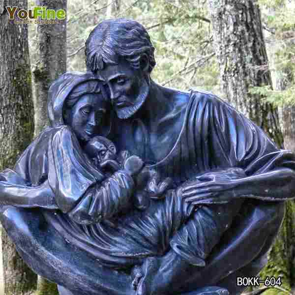 Outdoor Religious Bronze Quiet Moment Holy Family Statue for Church Supplier BOKK-604