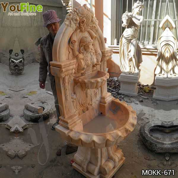 Red Marble Water Wall Fountain Factory Supply