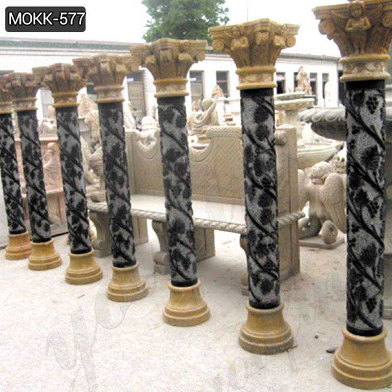 Roman Cheap Natural Marble Column Pedestals Manufacturers MOKK-577