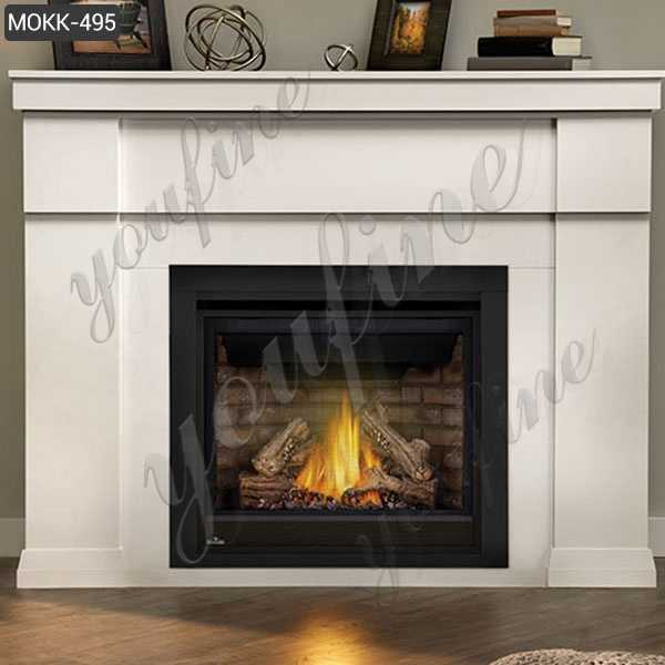 Delicate lines Marble Fireplace Home Indoor Decoration Supplier MOKK-495