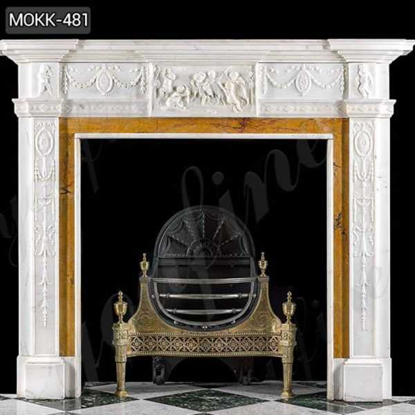 White Marble Georgian Fireplace Mante