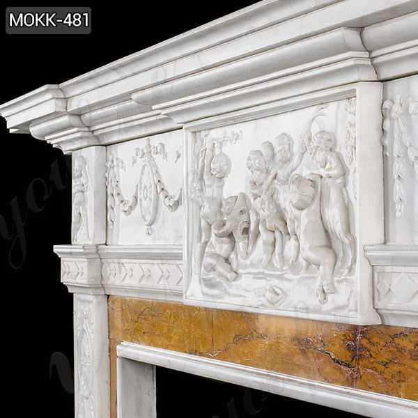 White Marble Georgian Fireplace Mantel for sale