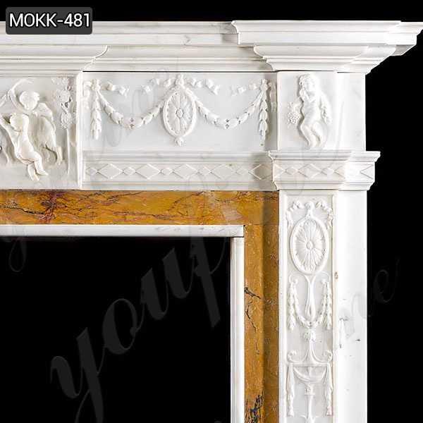 White Marble Georgian Fireplace Mantel