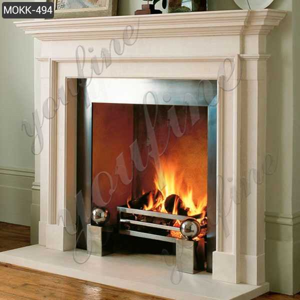 Wholesale Home Indoor Marble Fireplace Simple Design Decoration MOKK-494