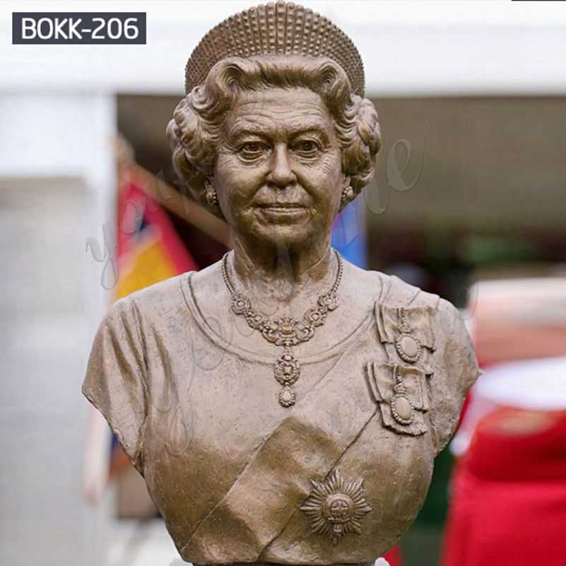 Elizabeth II Bronze Bust Statue Queen of the United Kingdom Suppliers BOKK-206