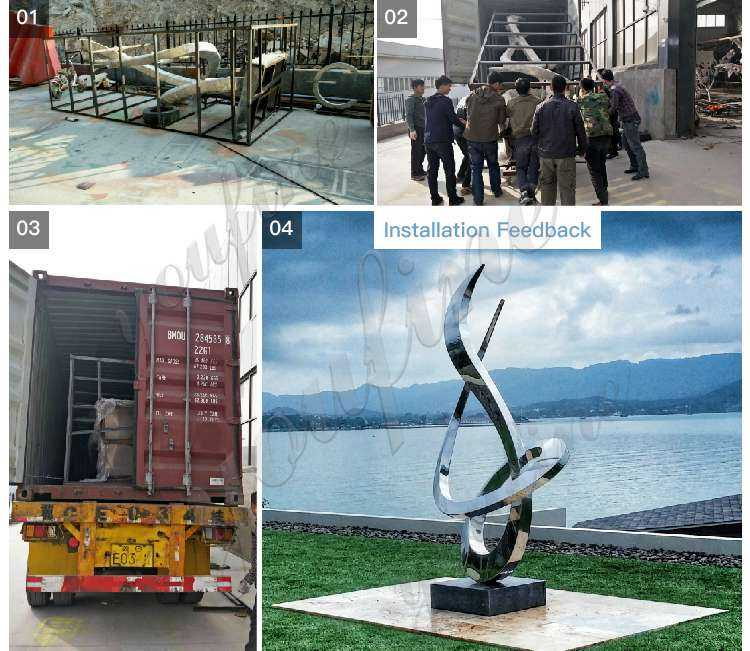 outdoor modern metal sculpture feedback