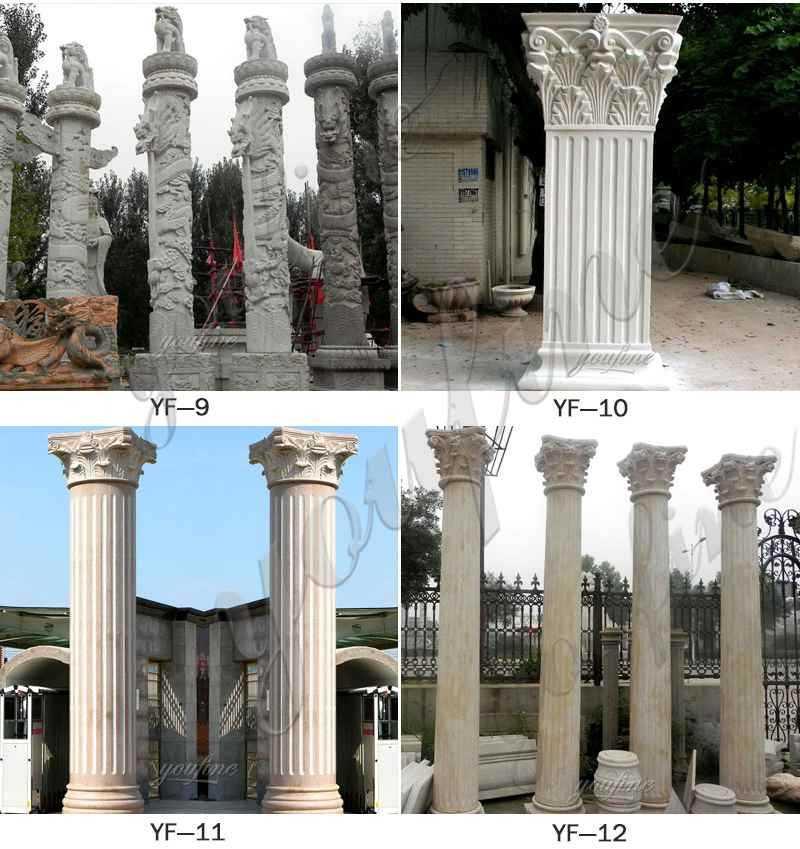 stone driveway entrance columns design for sale