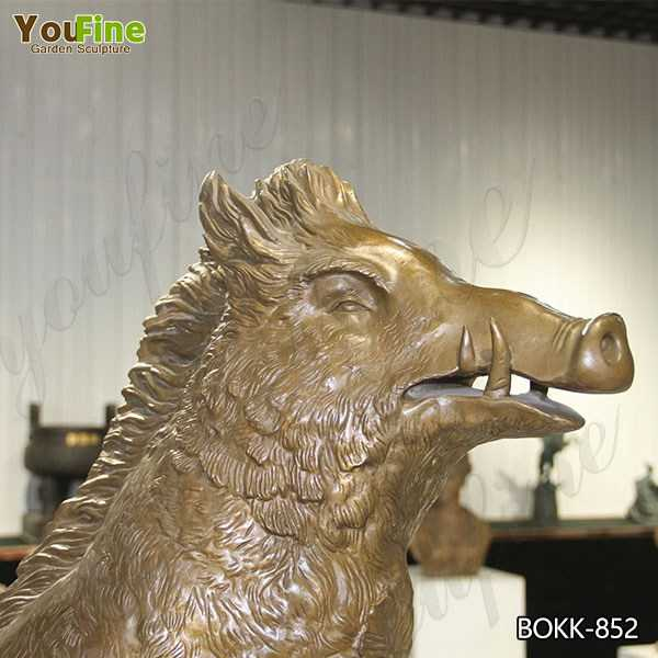 the Famous Bronze Boar Statue on Stock for Sale