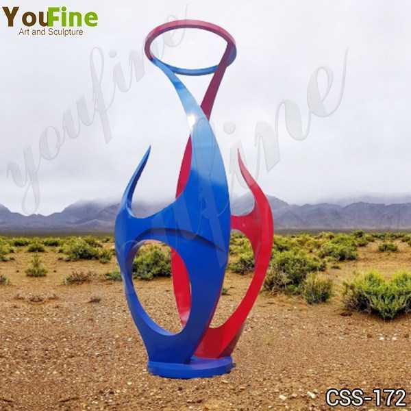 Abstract Stainless Steel Garden Sculpture Factory