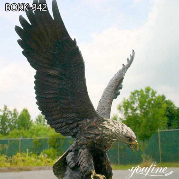Bald Eagle Bronze Outdoor Statue