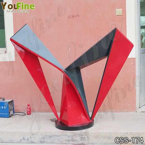Beautiful Outdoor Stainless Steel Modern Sculpture