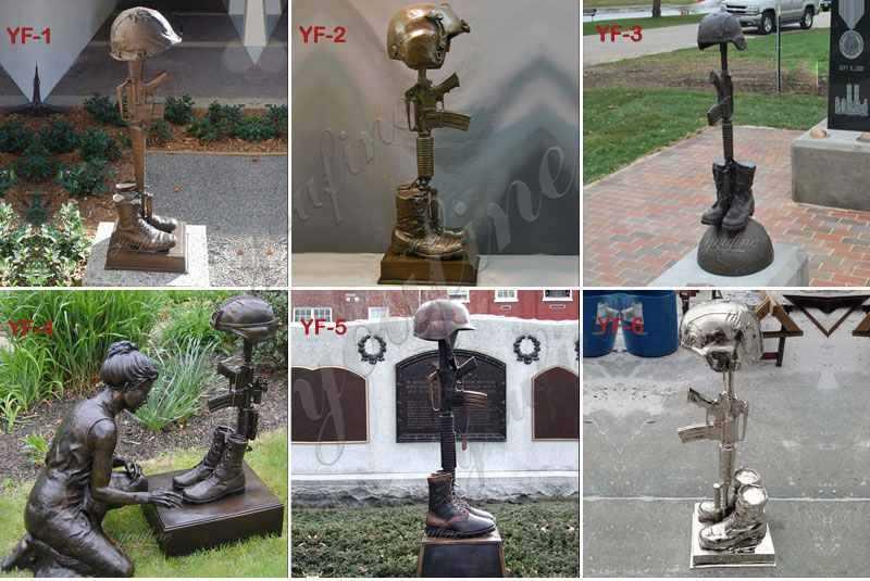 Bronze Battlefield Cross Sculpture