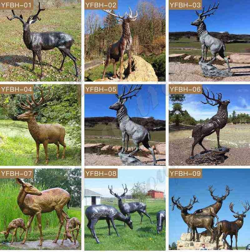 Bronze Deer Statues for sale