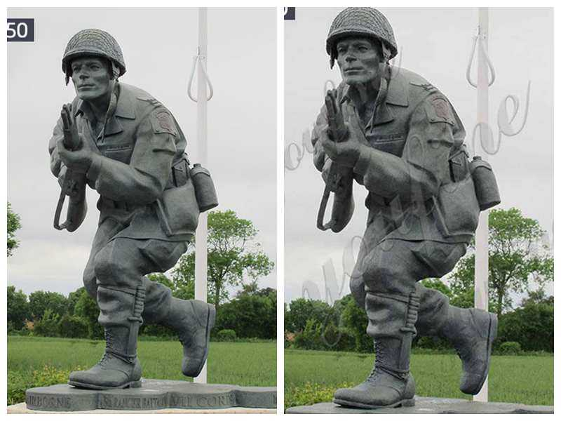 Bronze Dick Winters Statue Replica