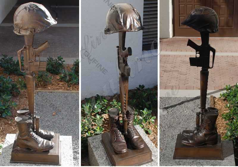 Bronze Fallen Soldier Sculpture