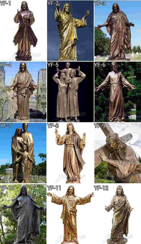 Bronze Jesus Carrying Cross Sculpture